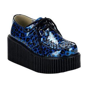Shoes - Platform Creeper Shoes Gothic Punk Cheetah Leopard